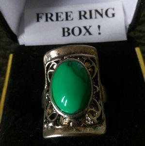 Jewelry - Tibet Silver Ring - Rectangular/Oval- Size 7